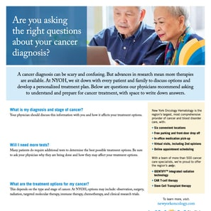 Are you asking the right questions about your cancer diagnosis?