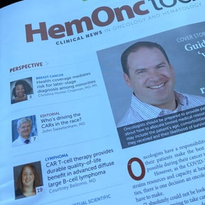 Dr. Bellomo Discusses CAR T-cell Therapy in HemOnc Today